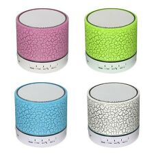 Mini Altavoces Portátil Bluetooth Inalámbrico con Micrófono USB TF Blutooth Rosa {no3