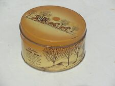 VINTAGE CHERRYDALE FARMS BUTTER CRUNCH COUNTRY HORSE & CARRIAGE TIN
