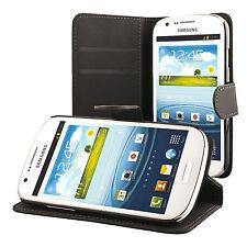 Samsung Galaxy Express i8730 portafoglio custodia protettiva nero case cover