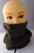 Green fleece Neck Warmer snood for warm fishing shooting walking