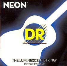 DR NEON NWA-11 Neon White Luminescent/ Fluorescent Acoustic Guitar strings 11-50