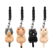 Cute Cat Hanging 3.5mm Anti Dust Earphone Jack Plug Stopper Cap For Phone GU
