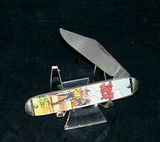 """Colonial Character Knife """"Tom Mix"""" Master Brand 1970's Silent Film Star Cowboy"""