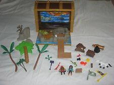 PLAYMOBIL TAKE ALONG FOLD & GO PIRATE TREASURE CHEST 2 SIDED PLAYSET 5737