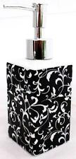 Venetian Soap Dispenser Black Ceramic Pump Liquid Soap Dispenser Decorated UK