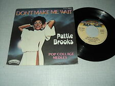 "PATTIE BROOKS 45 TOURS 7"" FRANCE POP COLLAGE MEDLEY"