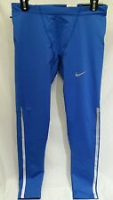 NIKE NEW REFLECTIVE TECH RUNNING TIGHTS ROYAL BLUE 647235-480 MENS SIZE LARGE