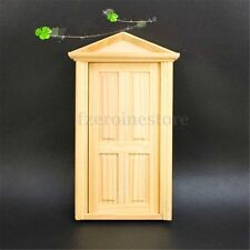 1/12 Natural External Wooden Door Portico Dolls House Miniature Fairy Accessory