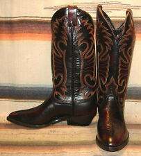 Vintage Santa Fe Boot Black Cherry Buffalo Cowboy Boots Mens 7 / Womens 8.5 NEW