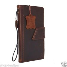 genuine natural leather hard Case for HTC ONE M8 book wallet handmade luxury 60s