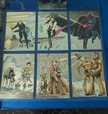 Star Wars Galaxy Series 1 Etched Foil Insert Card Chase Set #1-6  Topps 1993