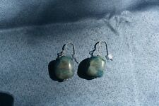 Ajoite and Papagoite Earrings love, healing, emotional support
