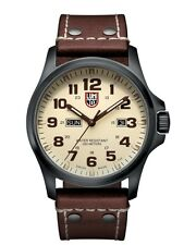 NEW LUMINOX AIR FIELD WATCH GUNMETAL CASE CREAM DIAL QUARTZ DAY/DATE STRAP 1927