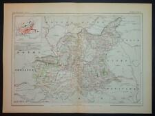 1886 impression antique carte en couleurs de ALPES BASSES France carte française