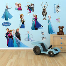 Disney Frozen Elsa Anna Sven Olaf Wall Stickers Home Decor Kids Room Decal