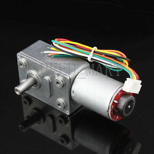 Hightorque Turbo worm Geared motorGW370 DC12V6RPM motor with encoder