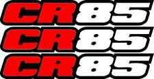 CR85 Swingarm Airbox Number Plate Decals Stickers cr 85 dirtbike graphics