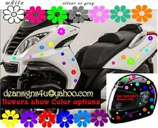 motorcycle scooter helmet 50 MULTI COLOR FLOWERS car girl woman bike match set