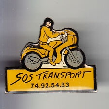 RARE PINS PIN'S .. MOTO MOTORCYCLE COURSIER RAPIDE SOS TRANSPORT ~BN