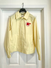 Men's Vintage Pale Yellow Pontiac Racing Rockabilly Jacket, XL