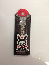 "Skelanimals ""Dead Animals Need Love Too"" Zipper Keychain - Cute Emo Fashion"