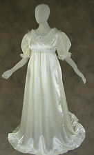 Ivory Regency Jane Austen Style 2 Piece Satin Ball Wedding Gown Costume 4X
