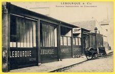 cpa Très RARE PARIS Entreprise LEBOURQUE & Cie 10 rue BELLONI Réparation de PNEU