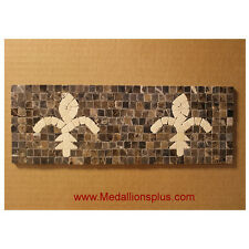"Fleur De Liz, Mosaic 4x12"" Granite Marble Tile  Bathroom Borders Kitchen"
