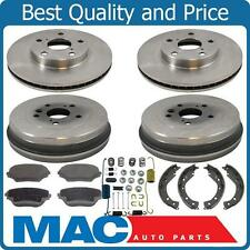 2001-2002 Toyota Rav4 Rav 4 Front Brake Rotors Pads Rear Drums Shoes Kit New