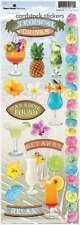 PAPER HOUSE TROPICAL DRINKS COCKTAILS BEACH TRAVEL VACATION SCRAPBOOK STICKERS