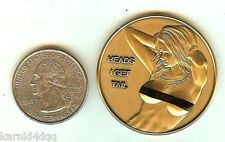 NUDE TOPLESS Sexy Busty Lady Woman BRONZE HEADS TAILS Erotic Risque Coin Token 1