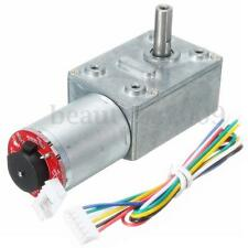 DC 12V 80RPM Square High Torque Turbo Worm Geared Motor With Encoder and Cable