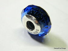 NEW!AUTHENTIC PANDORA CHARM BLUE FASCINATING IRIDESCENCE MURANO GLASS  #791646 P