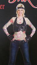Hell Raiser Girl Woman Miami Ink Costume Dress Up Tattoo Shirt Halloween