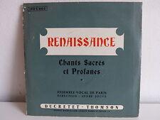 Renaissance Chants sacrés  profanes ENSEMBLE VOCAL DE PARIS ANDRE JOUVE 190C002