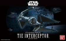 Bandai 1:72 Star Wars Tie Interceptor Plastic Model Kit  BAN208099 USA Seller
