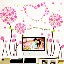 Wall Stickers Wall Decals Pink Pandora Flowers Border Design