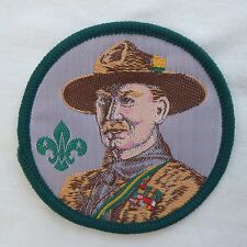 Vintage Scout Souvenir Badge 70th Anniversary Lord Baden-Powell Woven Green Trim