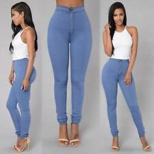 Women Pencil Casual Denim Skinny Jeans Pants High Waist Slim Jeans Trousers A