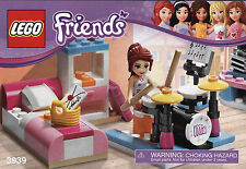 Lego Friends Mia's Bedroom Set 3939 - RETIRED. Complete + Instruction Book