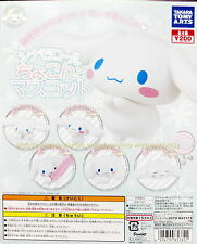 Sanrio Cinnamoroll Pug Up Mascot Complete 5pcs + Display Card - Takara Tomy ARTS