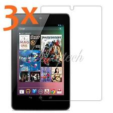 "3x Ultra Clear LCD Screen Guard Protector Film For Asus Google Nexus 7"" 1st 2012"