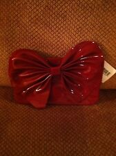 NORDSTROM Holiday Red Cosmetics Clutch Bag 9x6