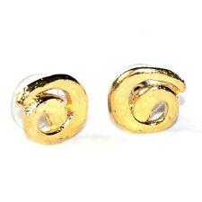 IL ETAIT UNE FOIS Boucles d'oreilles couleur or spirale bijou earring