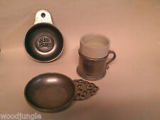 Vintage RWP WILTON COFFEE CUP CHILD'S PORRINGER ALL GONE PEWTER 1973 ARMETALE