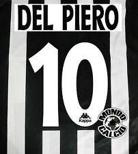 PERSONALIZZAZIONE DEL PIERO NOME NUMERO KIT NAME SET HOME KAPPA 1995-1996