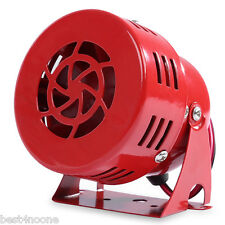Car Alarm Loud Sound Siren Horn Wired Air Raid Security Red
