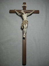 "11"" Crucifix from Italy - Beautifully Stained with Gold Edging"
