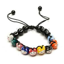Ceramic Cat Beads Charm Lucky Bracelets For Fortune Money Health Adjustable NEW