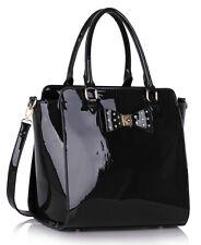 Ladies Fashion Patent BowTote Handbag Women's Handbags Quality Celebrity Bags 84
